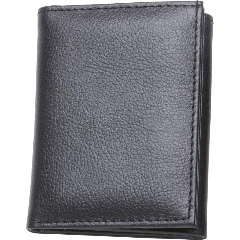 Men's Tri-Fold Wallet With Transparent Driver's License Window