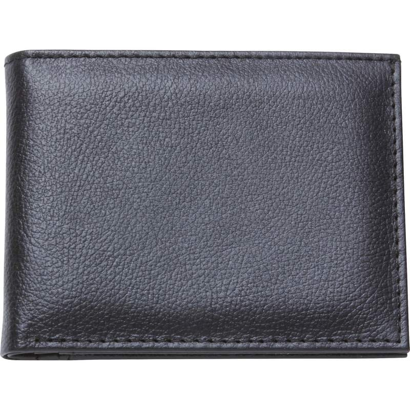 Men's Leather Bi-Fold Wallet With Divided Space For Currency
