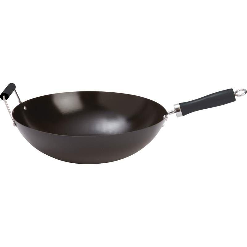 """Chef's Secret 14"""" Authentic Carbon Steel Non-Stick Wok"""
