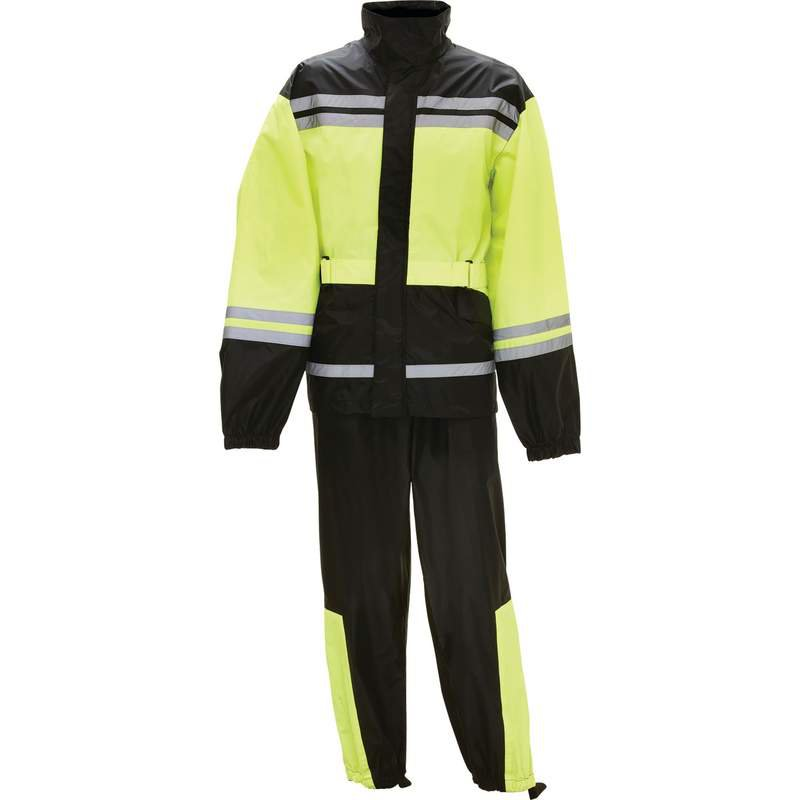 Motorcycle Waterproof Rain Suit with Reflective Trim 2X/3X New