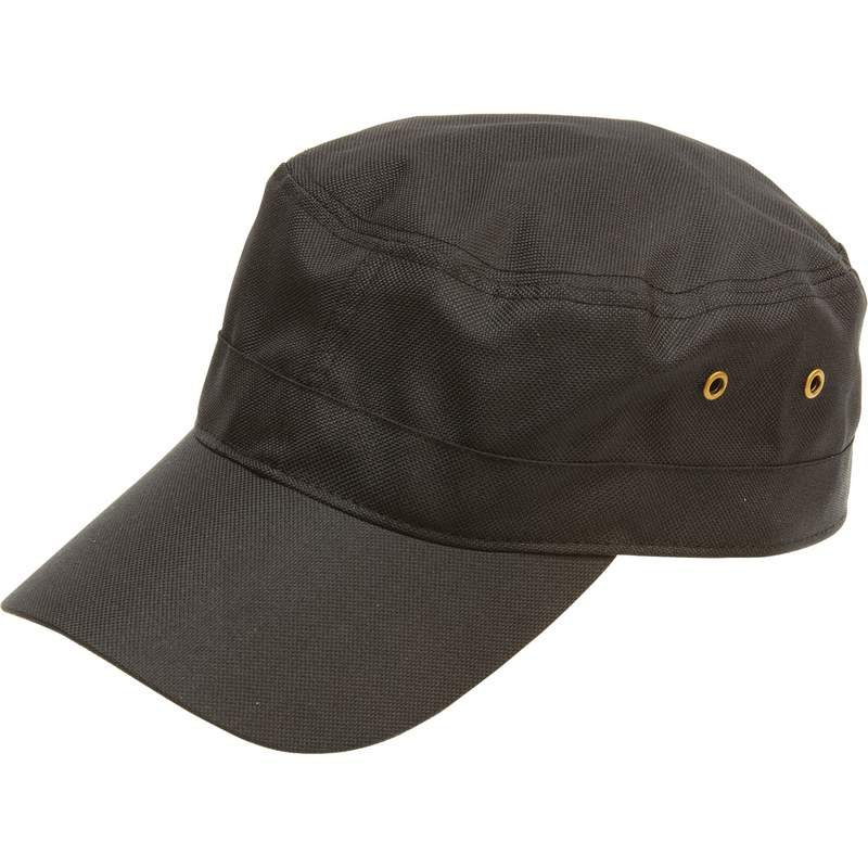 Casual Outfitters Black Adjustable Cap With Ventilation Grommets