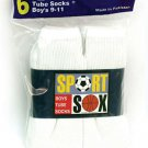 Boys Sport Sox  White Tube Socks 6-8 1/2 15% OFF