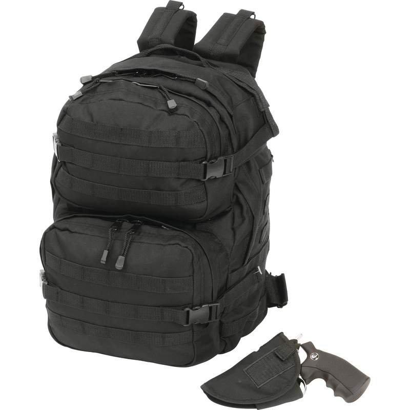 Extreme Pak Black Backpack with Concealed Handgun Holster