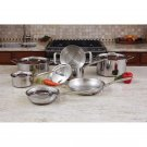 Maxam 12pc 3-Ply Clad T304 Stainless Steel Cookware Set