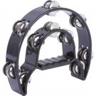 Maxam Duuble Cutaway Tambourine Features Ergonomic Grip