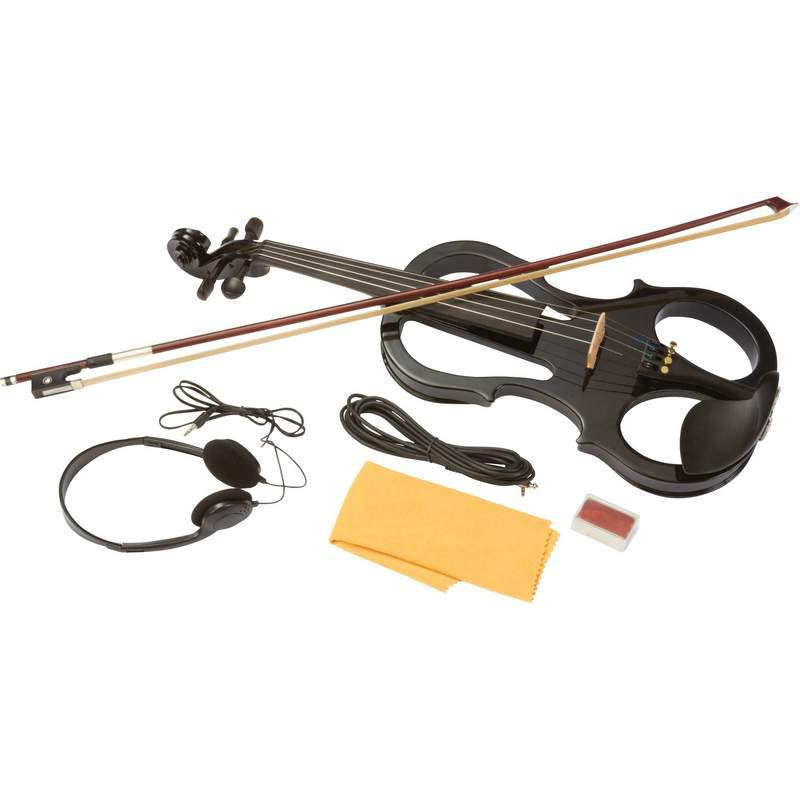 Maxam Full Size Electric Violin with Hard-Sided Case and Bow