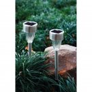 Beam Lite 2PC Yard solar Light Set with Stainless Steel Housing