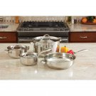 Heavy Duty Stainless Steet Cookware Set with Cast Steel Hanhles