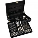 Heavy-Gauge Stainless Steel 72PC Flatware Set with 24 K Gold Trim
