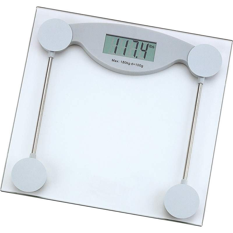 Glass Electronic Bathroom Scale with Weight capacity of 400lbs