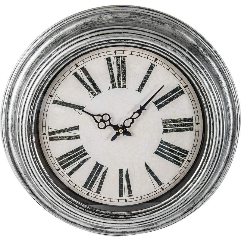 Brookwood 20 Quot Antique Silver Round Wall Clock