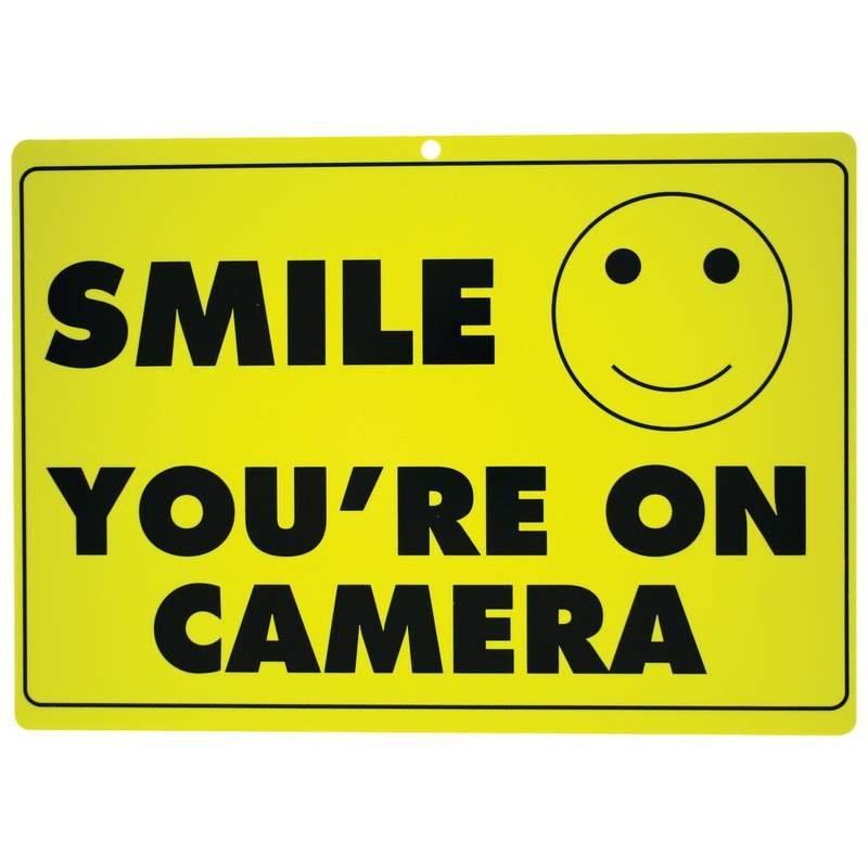 Maxam 10pc SMILE YOU'RE ON CAMERA Polypropylene Sign Set