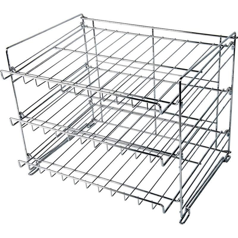 Wyndham House 3-Layer Chrome Wire Can Rack New