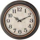 "20"" Antique Black Round Wall Clock"