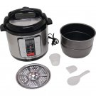 Precise Heat 6.3 Qt Electric Pressure Cooker with Digital Display