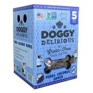 Doggy Delirious Berry Coconut Bones Dog Treats 5 LBS