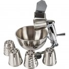 Maxam T304 Stainless Steel Vegetable Chopper with 5qt Bowl