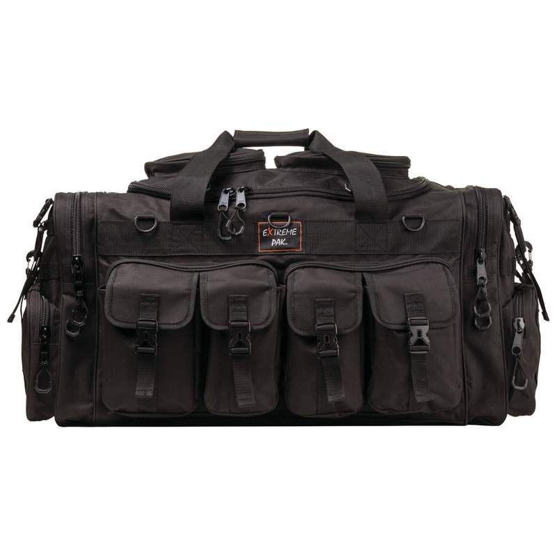 Tactical Water Resistant Polyester Tote Bag with Ammo Compartments