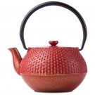 Chef's Secret 33.8 oz (4 cups) Red Cast Iron Tea Pot