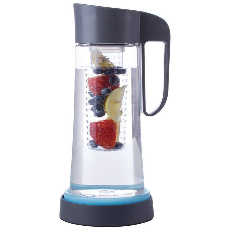 Fruit Infusion Pitcher with Infuser Tube and Freezer Gel Base