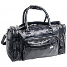 "Embassy Genuine Leather 17"" Tote Bag with Zippered End Saddlebags"
