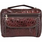 Embassy Alligator-Embossed Burgundy Genuine Leather Bible Cover