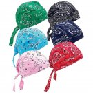 Diamond Plate 6pc Assorted Paisley Cotton Skull Cap Set