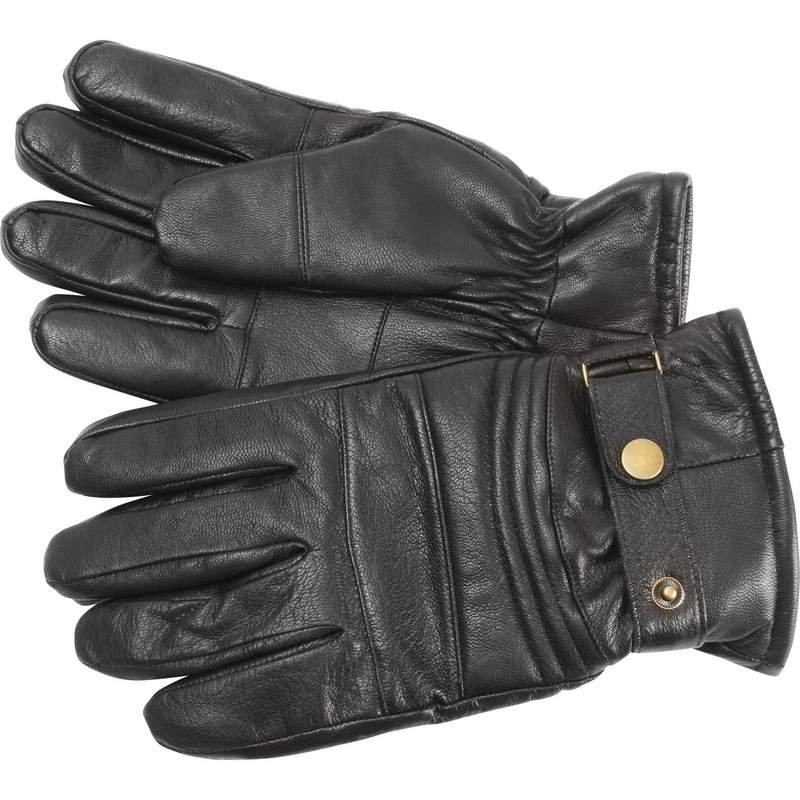 Solid Goat Leather Insulated Motorcycle Gloves - Size Medium