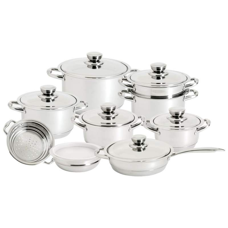 16 PC 12-Element Super Set with High-Quality Stainless Steel