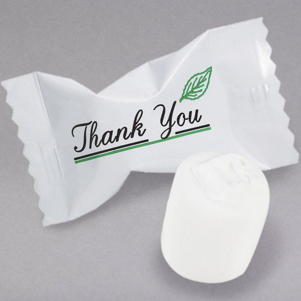 """""""Thank You"""" Buttermints Individually Wrapped (Case of 1000)"""