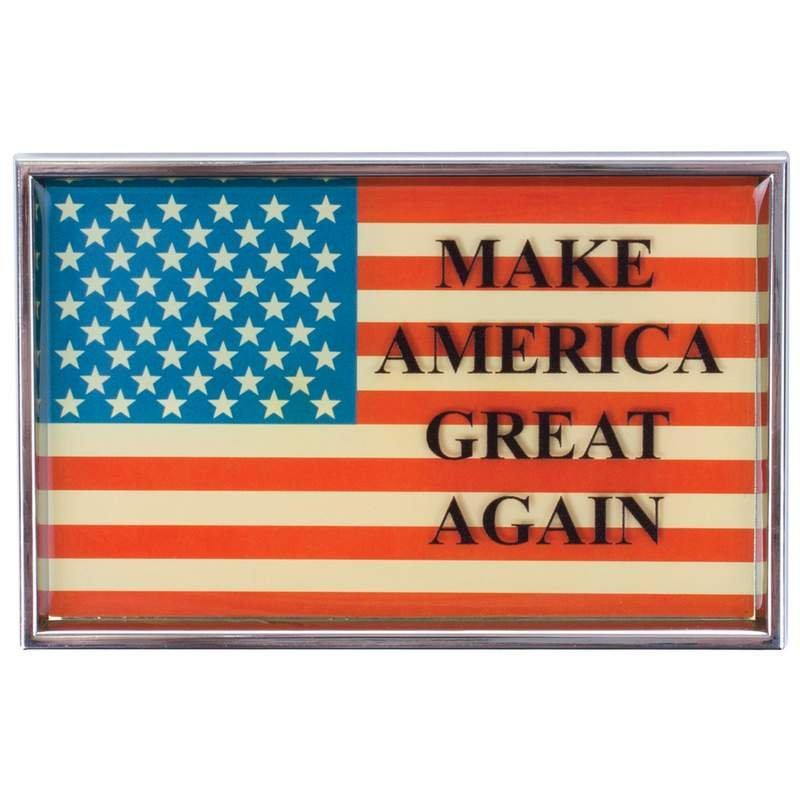 American Flag Auto Emblem