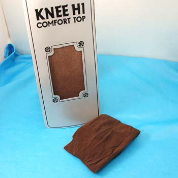 Comfort Top Coffee Nylon Knee Highs