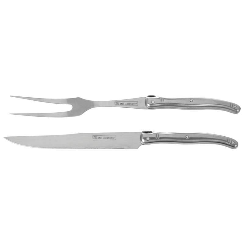 Slitzer Germany 2pc European-Style Carving Set in Wood Box