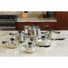 Wyndham House by Justin Wilson 12pc Stainless Steel Cookware Set
