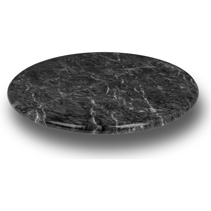 Dark Marble Lazy Susan Turns 360-Degrees