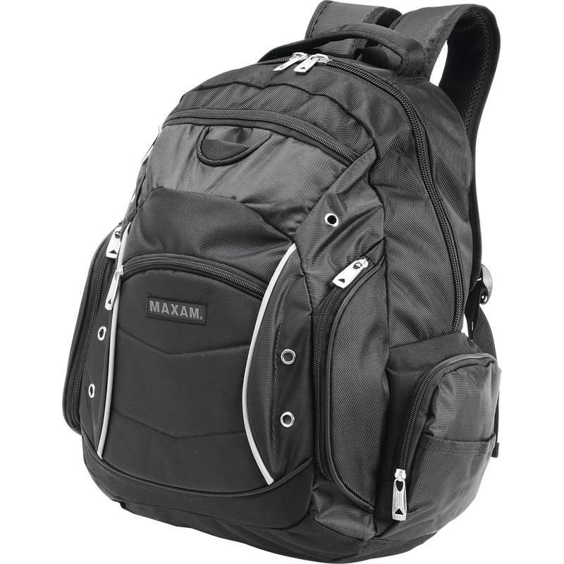 "18.5"" Maxam Executive Backpack with Padded Compartment for Laptop"