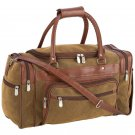 "Embassy Travel Gear 17"" Faux Leather Tote Bag with Zippered Saddlebags"
