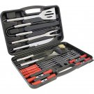 Chefmaster 19 PC Stainless Steel Barbeque Tool Set includes Carrying Case