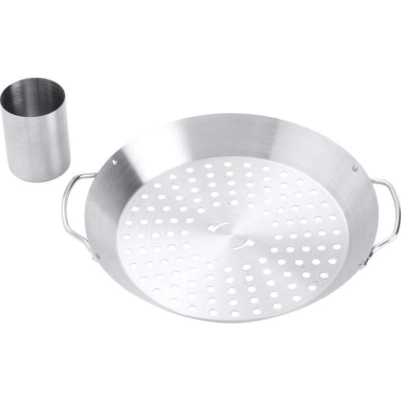 Chefmaster Stainless Steel BBQ Grill Tray with Chicken Cylinder