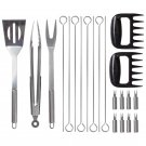Mossberg 21pc Stainless Steel BBQ Set
