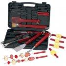Chefmaster 19 PC Barbeque Tool Set includes Storage Case