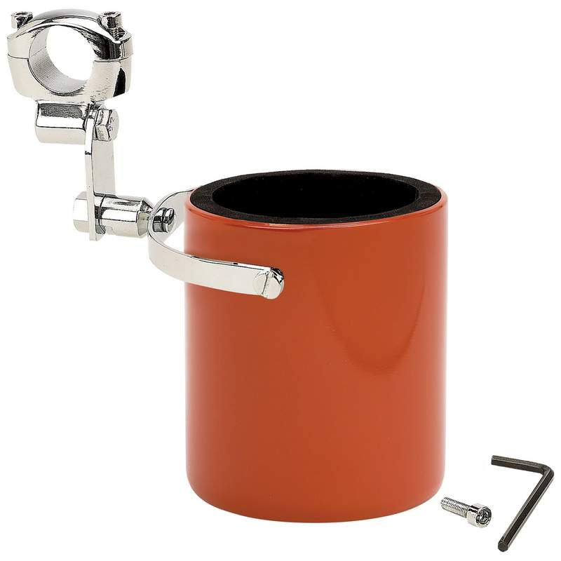 Diamond Plate Orange Stainless Steel Motorcycle Cup Holder