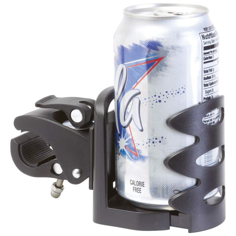 Quick Release Adjustable Drink Holder Features Rotating Mount