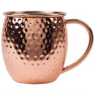 Hammered Copper-Plated Finish Stainless Steel Moscow Mule Mug