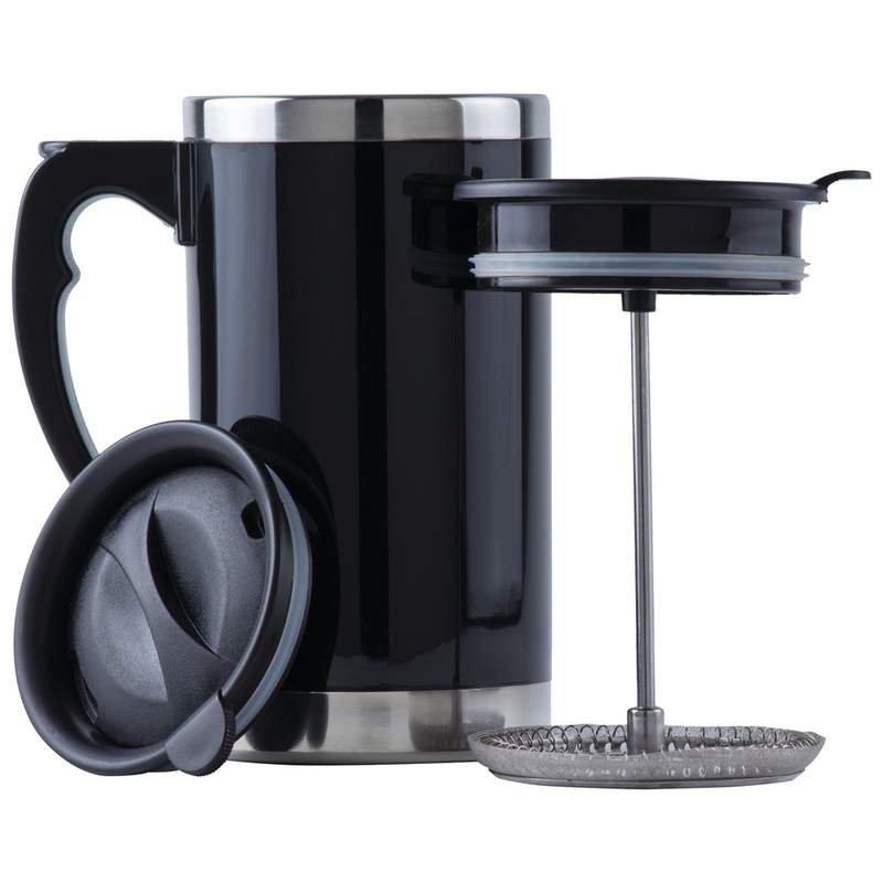 Wyndham House 21oz Double-Wall Travel French Press Coffee/Tea Mug