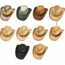 Casual Outfitters 10pc Cowboy Hat Set with Self-Adjusting Liners