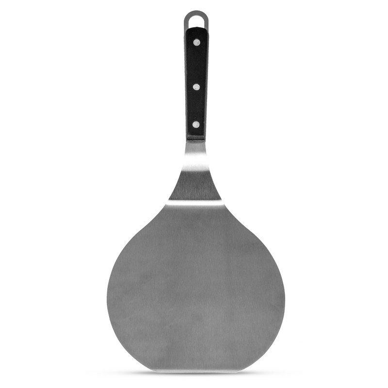 "Maxam 15"" Jumbo Stainless Steel Spatula with Wood Handle"