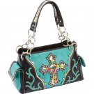 Ladies Fashion Cross Purse with Multi-Colored Bead Details