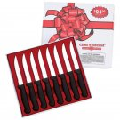 Chef's Secret 8pc Surgical Stainless Steel Blade Steak Knife Set