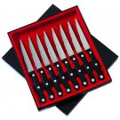 "Slitzer 8pc 8-7/8"" Steak Knife Set with Half-Serrated Blades"